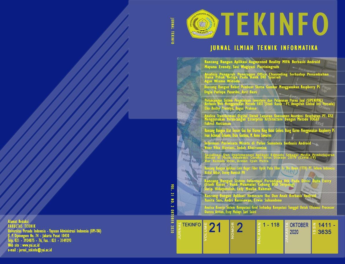 Jurnal Ilmiah Teknik Informatika - Fakultas Teknik UPI Y.A.I